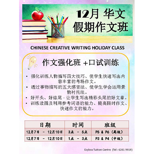 2020 Dec Holiday Programme Chinese